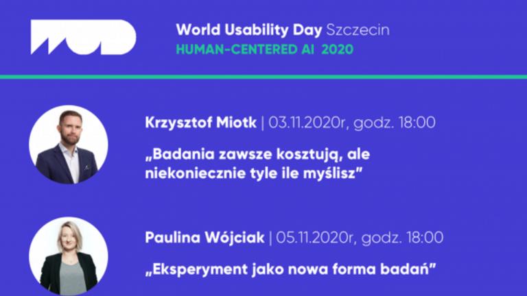 [online] Trwa konferencja World Usability Day Szczecin 2020